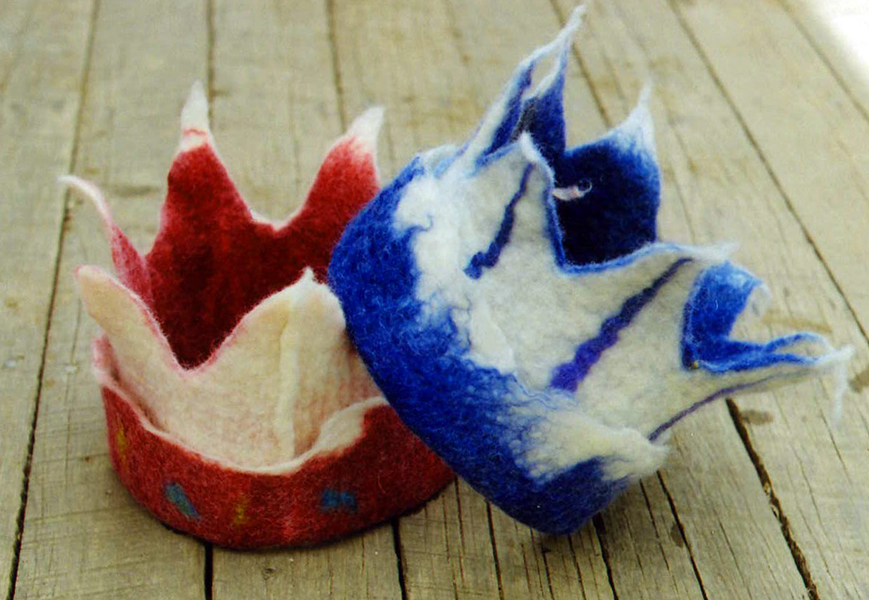 Felted Crowns